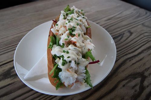 Lobster rolls are popular - easy to see why.