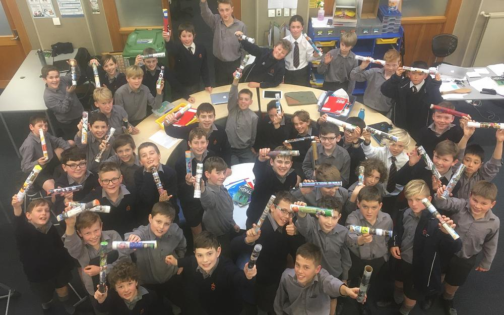 Year 7 2020 with their Covid-19 Time Capsules