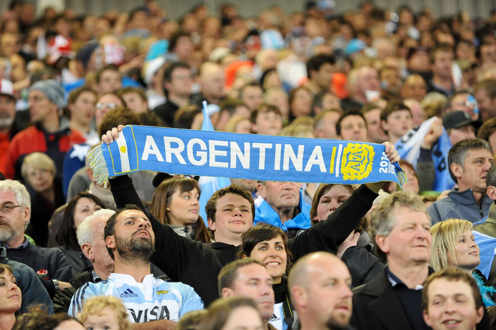 Argentina supporters in match v England, 2011