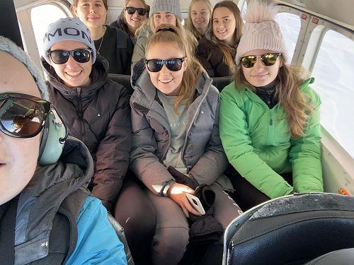 Plane one: returning from landing on Franz Josef Glacier.