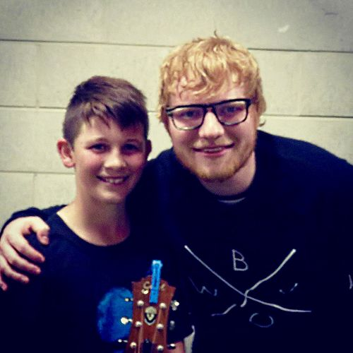 Ed Sheeran meets his idol, Rylan Urquhart