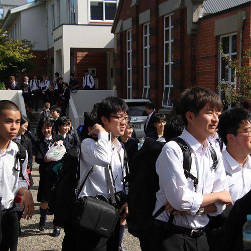 Arriving at John McGlashan College 11/03/19