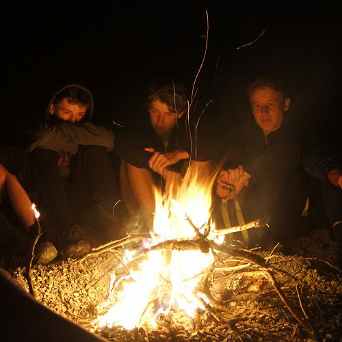 Jack, Neil, Barend, Matthew and Adrian relaxing after a 10-hour day...