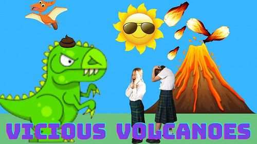 Volcanic explosion!! by Lola, Olive and Hannah