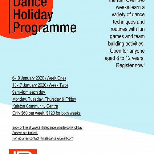 Initiate Dance Holiday Programme