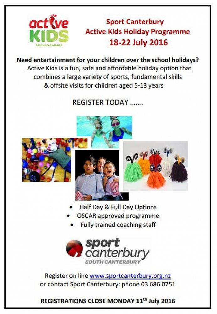 Active Kids Holiday Programme - Newsletter • Issue 10 • 23rd June 2016
