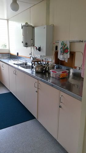 The kitchen has good facilities for cuppas