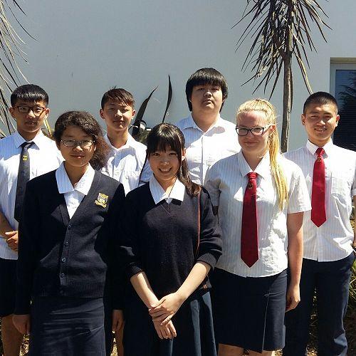 Kevin Guo (11NM), Honoka Shimoda (12BD),Tiger Wang (11GN), Sherita Xie (11NM), Black Han (11ME), Rosa Verkasalo (13TS). Monika Kim (11SC) also received an excellence award but is not in the photo.