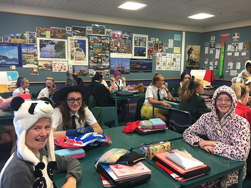 Students in year 9  French came dressed in costume for class!