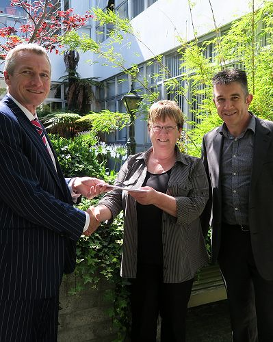 Cheque presentation to Family Works