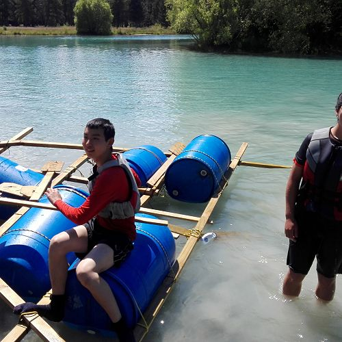 An interesting raft design