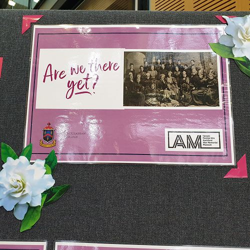 'Are we there yet?' McGlashan Wāhine - Suffrage exhibition