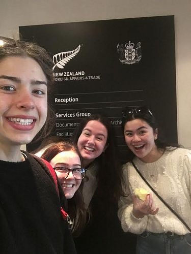 Sophie Woodham keen to explore future work opportunities, with Sophie Baron, Abby Bowmar & Amelia Chang