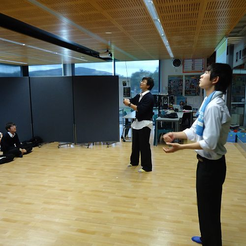 Ichikawa students during the Drama session - Performance time