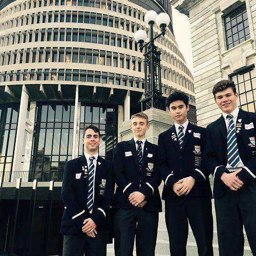 Sam Kilsby, Joshua Malcolm, Cameron McAuslan and James Nind