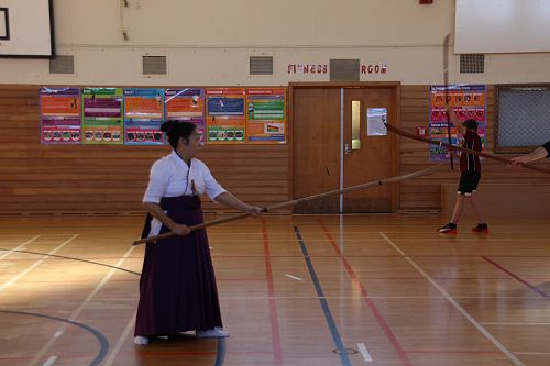 Japanese martial art Naginata