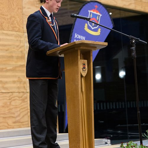 Head Prefect 2016 addresses the senior prize-giving