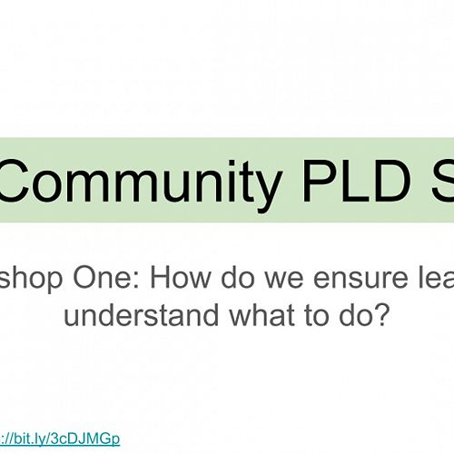 Video: VLN Community PLD Series: Workshop One: Emergent Design