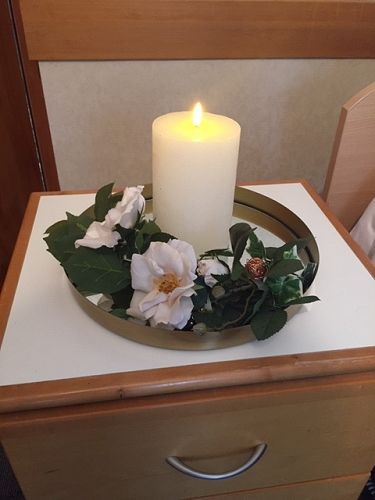 A remembrance candle which is part of the End of L