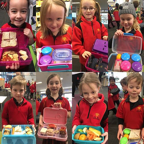 Look at our rubbish free lunch-boxes!