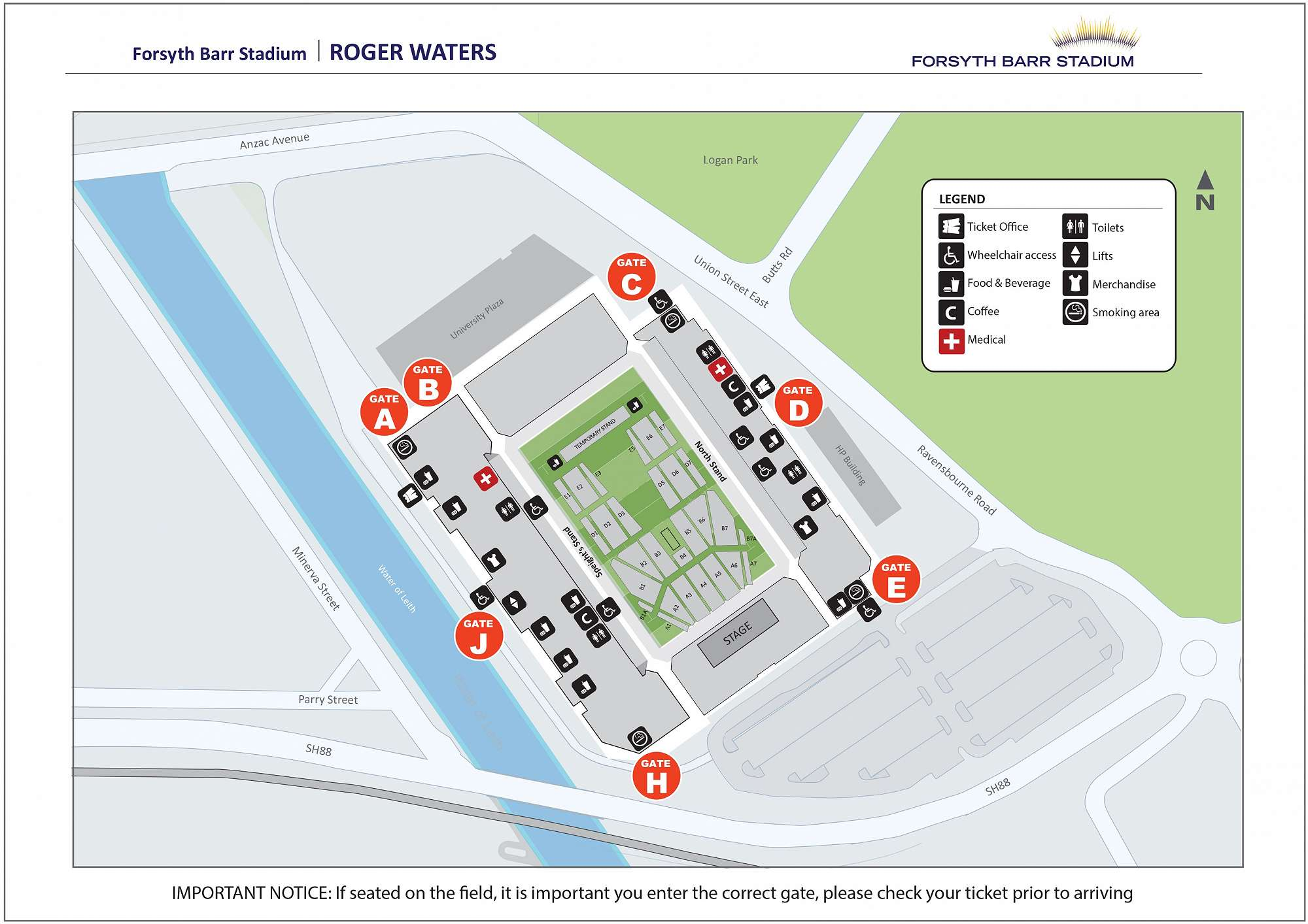 Map of Stadium - Roger Waters