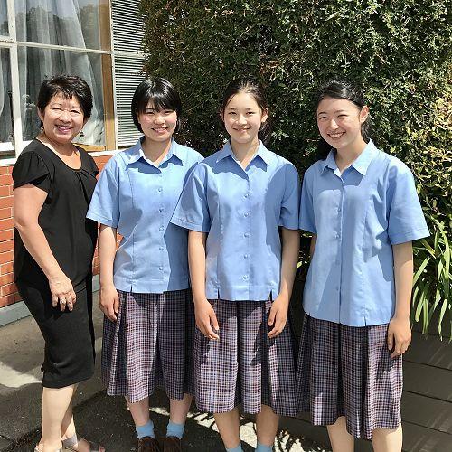 Cristina Huggins,Kokona Saito, Miho Shiraki and Saya Tanaka