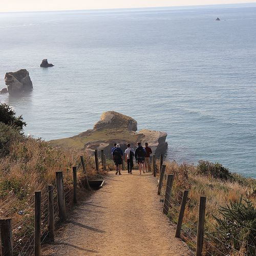 Morning stroll to Tunnel Beach
