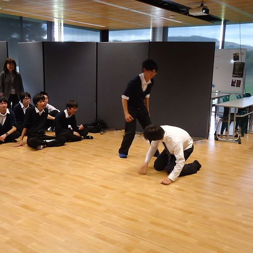 Ichikawa students during the Drama session