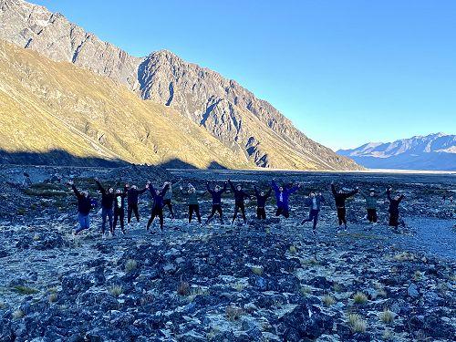 After our adventure on the Tasman Glacier lake.