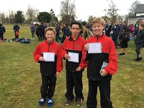 Boys Cross Country Team - Harry Osborne, Harry Miller and Oscar Ball