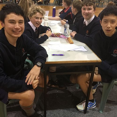Year 9 Team - William Little, Nic Friedlander, Ollie Sinclair and Ray Ma
