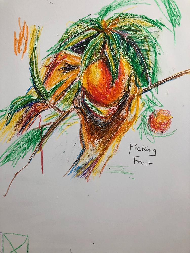 Drawing by Hui Ling Fong, April 2020