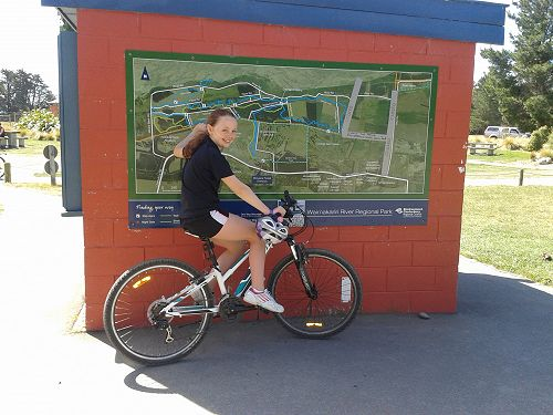 Lileeh from Room 1 rode her new bike around Maclea