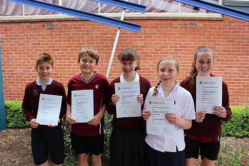 Year 7 ICAS Winners