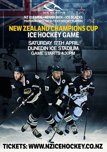 New Zealand Champions Cup Ice Hockey Game Poster