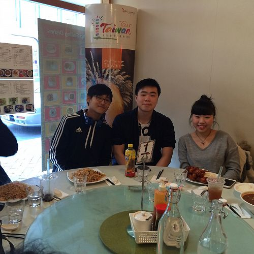 Left to right: Seongwoo Kim (Korea), Trevor and Shana Au (Hong Kong)
