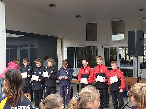 Year 7 Boys Cross Country Team
