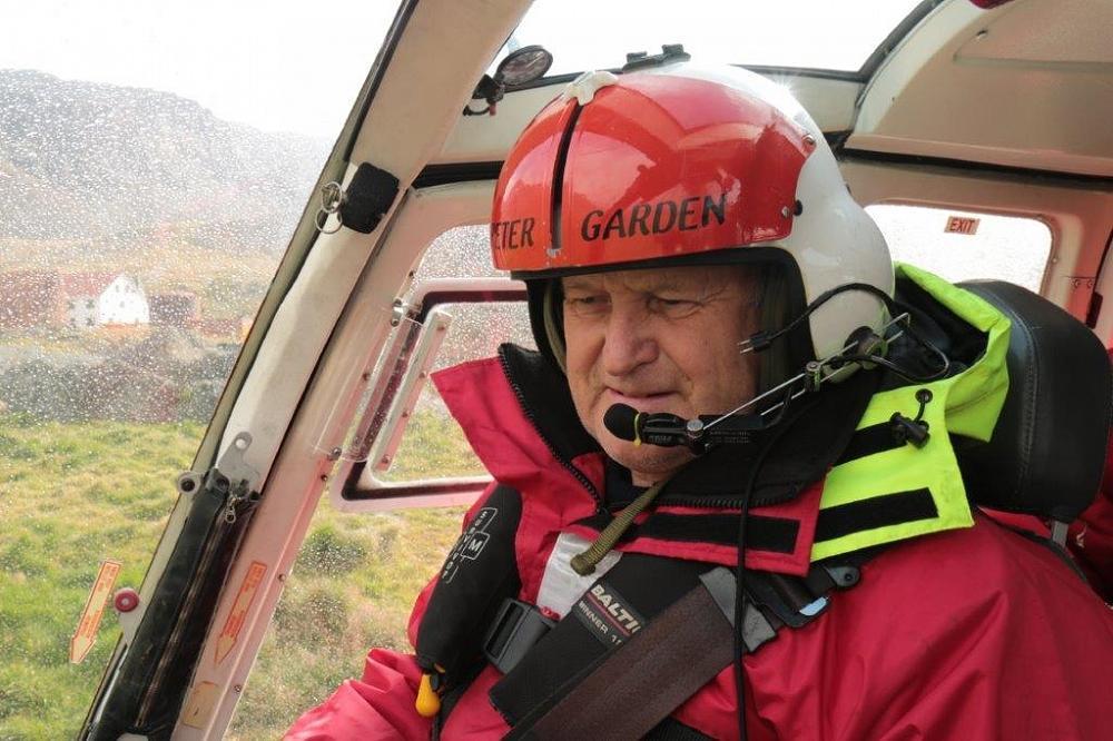 Peter Garden ONZM. Helicopter Pilot.