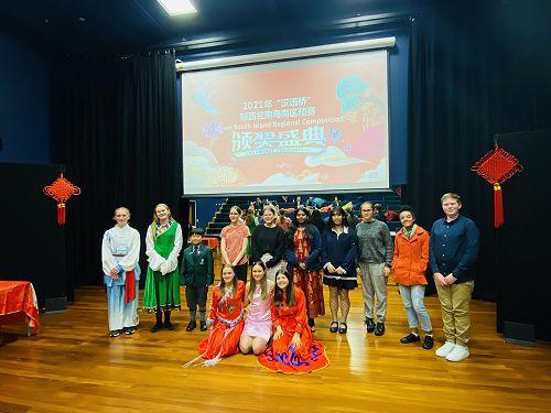 Group photo speech and paint panda winners