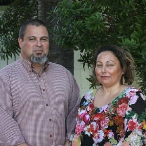 Quenten Browne and Aroha Hohepa