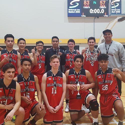 Senior A Boys Basketball team - Secondary Schools South Island 'A' 2017 Champions