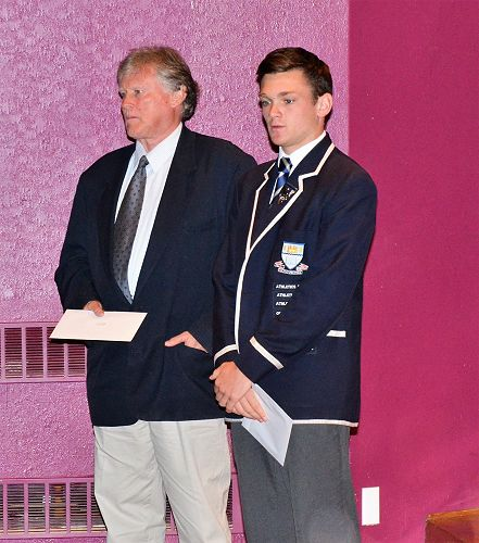 Mr Robert Mulligan accepting Callum's Design and V