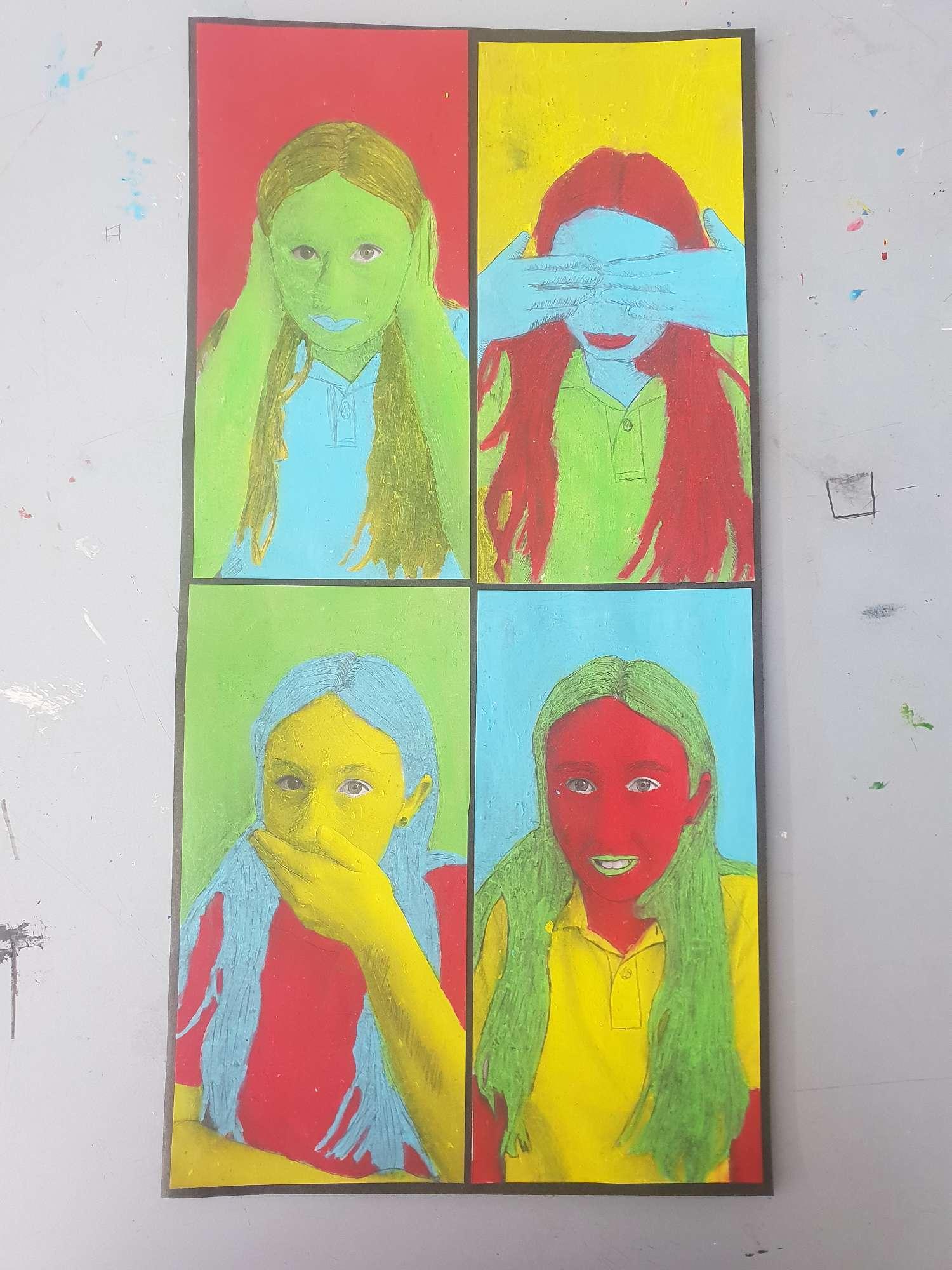 Middle school pop art
