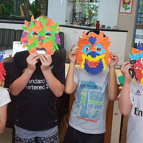 Rm 8a made masks for Chinese New Year