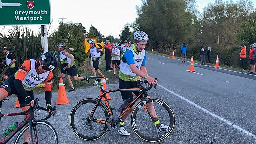 Finlay Brown C2C - Transition from a 2.2km Run onto the 55km Cycle