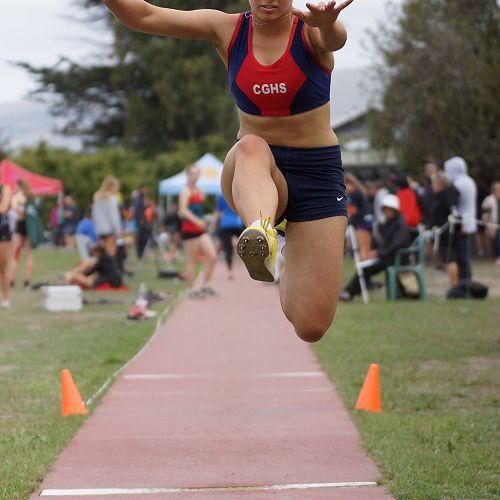 Emily Shaw - South Island Secondary Schools Athletics Championships