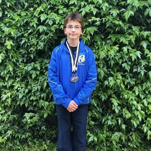Rohan with a gold, silver and bronze medal after the DNZ Skills Nationals competition.
