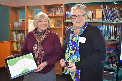 LPHS Librarian Jenny Millar