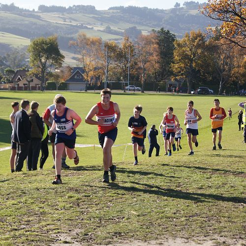 Students head towards the finish line