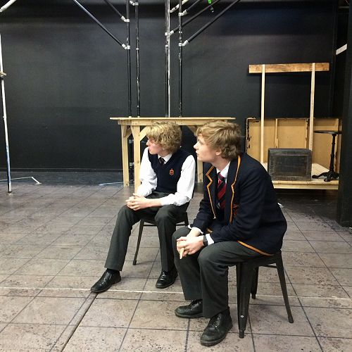 Liam Miller (Captain) and Henry Ward, Theatresports STAC competition 2016